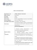 DERS TANITIM BİLGİLERİ Dersin Kodu ve Adı TF1026