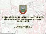 Karto25 Harita Üretim Sistemi