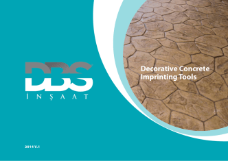 Decorative Concrete Imprinting Tools