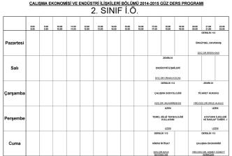 2. S NIF I.O. - yalova üniversitesi çalışma ekonomisi ve endüstri