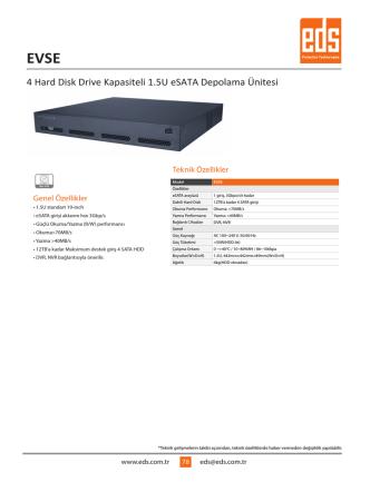 4 Hard Disk Drive Kapasiteli 1.5U eSATA Depolama Ünitesi