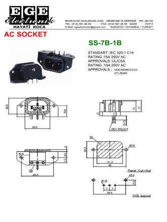 AC SOCKET SS-7B-1B