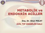 Metabolik ve Endokrin Aciller