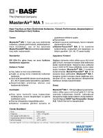 MasterAir® MA 1 (Eski adı MELMIX® I) Hazır Yaş Sıva ve