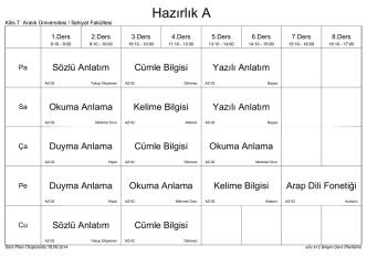 2014-2015 Güz I. Ö. - İlahiyat Fakültesi