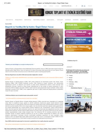 Başarılı ve Yenilikçi Bir İş Kadını: Özgül Özkan Yavuz