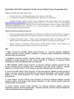 Enstitümüz 2008-2009 Güz dönemi Yüksek Lisans ve Doktora