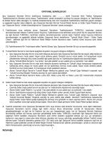 OPSİYONEL SERVİSLER EKİ İşbu Opsiyonel Servisler Eki