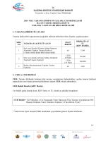 2014 Yılı Denizdibi Tarama Birim Fiyatları