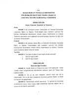 25 adana btü fen bilimleri enstitüsü tez yazım kuralları yönergesi