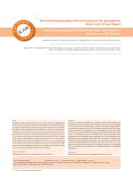 Recurrent Suprascapular Nerve Entrapment By Spinoglenoid Notch