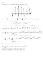 Sinyaller ve Sistemler örnek bir soru