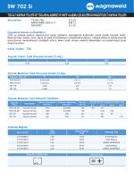 SW 702 Si - Oerlikon Kaynak
