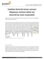 Yeşilköy Gümrük binası yanıyor Bilgisayar sistemi çöktü mü Gümrük