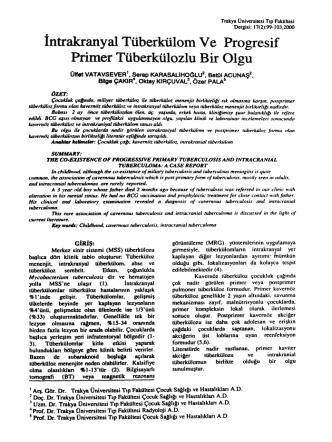 . İntrakrany al Tüberkülom Ve Pro gresif