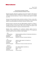 Announcement of Acquisition of Shares for Construction Machinery