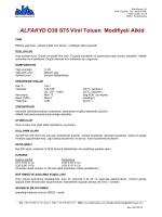 ALFAKYD O39 S75 Vinil Toluen Modifiyeli Alkid