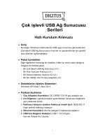 Çok işlevli USB Ağ Sunucusu Serileri Hızlı Kurulum Kılavuzu