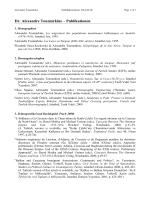 Dr. Alexandre Toumarkine – Publikationen - Orient