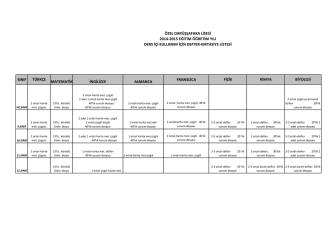 2014_2015_kirtasiye listesi - Darüşşafaka Eğitim Kurumları