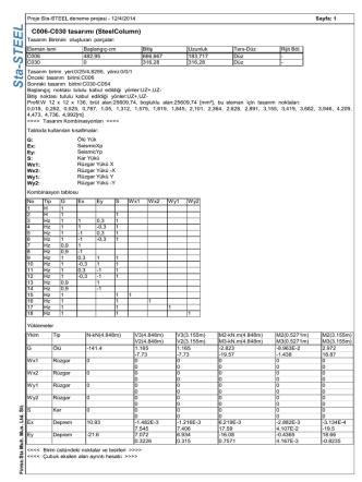 C006-C030 tasarımı (SteelColumn)