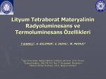 Lityum Tetraborat Materyalinin Radyoluminesans ve