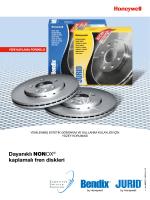 Dayanıklı NONOX® kaplamalı fren diskleri