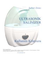 Kullanım Kılavuzu - SALTAIR DOMO ULTRASONIK SALINIZER, Tuz