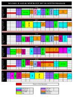 2015 Yılı Eğitim Programı Tablosu
