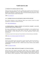 Ulusal Ve Uluslararası İstatistik Veri Tabanları Web