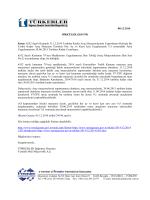 6552 Sayılı Kanunla 31.12.2015 Tarihine Kadar