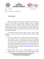 e-Fatura Hakkında Sorular - Tekirdağ Ticaret Borsası