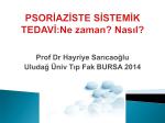 Prof Dr Hayriye Sarıcaoğlu Uludağ Üniv Tıp Fak BURSA 2014