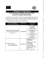 .. .. . . Inter-institutional agreement 2014-2021