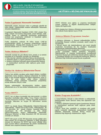 Aktüerya Bilimleri TR - Iam - Middle East Technical University