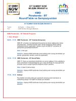 KMD Perakende - BT RoundTable ve Sempozyumları