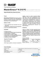 MasterEmaco® N 215 FC (Eski Adı ALBARIA