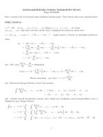 Genellleştirilmiş Stokes Teoreminin ispatı