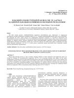 Ilık Derin Çekme Ünitesinin Kurulumu ve Aa5754-o