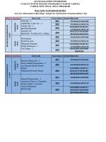 sınav programı - Uzaktan Eğitim Meslek Yüksekokulu