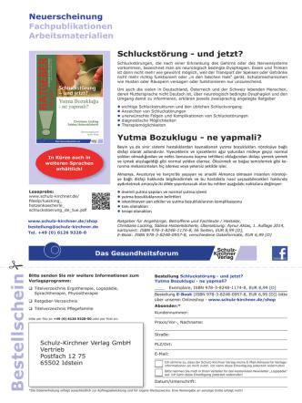 Bes tells c h ein - Deutsche Gesellschaft für Dysphagie