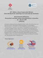 Programm - Universität des Saarlandes | Institut für klassische