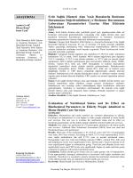 Araştırma Yazısı - Konuralp Tip Dergi