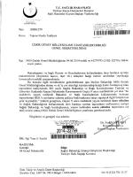 04.06.2014 Tarihli 206 Sayılı Genel Yazı