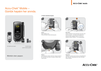 Accu-Chek® Mobile – Günlük hayatın her anında.