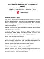 Aşağı Saksonya Mağduriyet Komisyonuna verilen Mağduriyet
