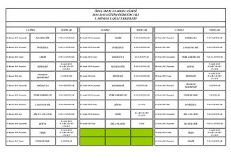 9-10-11-12. sınıflar yazılı tarihleri