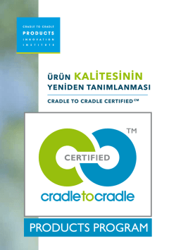 ÜRÜN KALİTESİNİN - Cradle to Cradle Products Innovation Institute