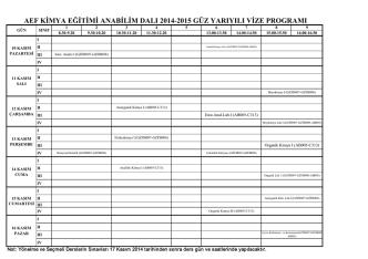 aef kimya eğitimi anabilim dalı 2014