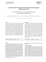 Endoskopik Retrograt Kolanjiopankreatikografi